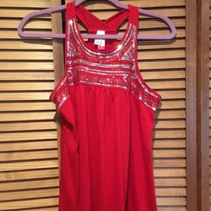 Tops - No boundaries Red sequin tank top
